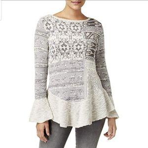 Style & Co Peplum Multi-Colored Sweater NWT Size M